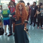 I was impressed that there's already someone cosplaying Princess Merida. I haven't even seen Brave yet.