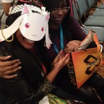 I hung out with Ashphord and Danielle from Chocolate Covered Cosplay at the Madoka Magica panel.