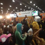Crunchyroll dance party on the last day of the con.