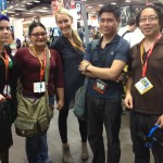 Hanging out in the exhibit hall with Nikki, Alma, Shannon, Marc (The Venture Bros. Blog) and Ejen (Cosplay in America)