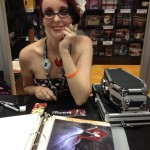 My pal Chandra Free signing at the Archaia booth