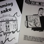 Preview issue for Swimming in Sake plus a comic that Paul Horn wrote and drew in 24 hours.
